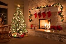 Christmas Tree Fireplace Stockings Canvas Pictures Wall Art Prints All Sizes