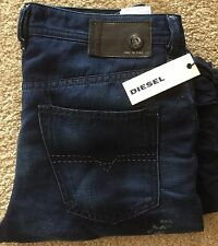 New Diesel Buster W32 L 32 Distressed JeansOrig Pri $348.00 Made in Italy