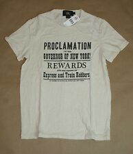 $95 RRL Double RL Ralph Lauren Men Vintage Proclamation Reward Print T-shirt MED