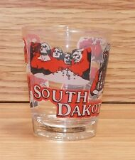South Dakota Mount Rushmore Red Accents Standard Size Collectible Shot Glass