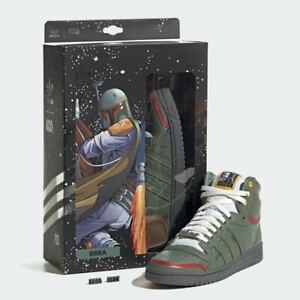 Adidas Top Ten Hi Star Wars Boba Fett Shoes (FZ3465) Sizes: 6, 7 - SHIPS FAST