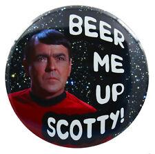 Big 'Beer Me Up Scotty' Star Trek Fridge Magnet (3 Inch/ 76mm)