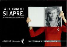 cartolina pubblicitaria PROMOCARD n.2863 LA FELTRINELLI LIBRERIA MUSICA MILANO