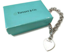 Tiffany & Co. Vintage Herz Armband aus .925 Sterlingsilber mit Schachtel