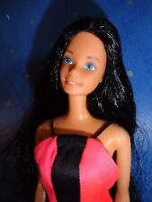 Vintage Barbie * SuperStar OOAK schwarz Reroot in Best Buy Kleid 70er