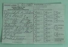 1994 North Carolina Wildlife Resources Com. Resident Big Game Hunting License