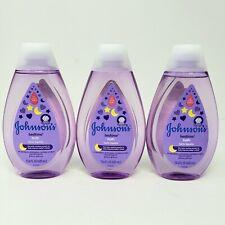Lot of 3 Bottles Johnsons Baby Bedtime Bath Improves Sleep 13.6 fl oz ea