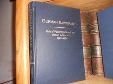 German Immigrants lists of Passengers From Bremen To New York 1847-1854
