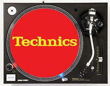 TECHNICS CLASSIC YELLOW ON RED - DJ SLIPMATS (1 PAIR) 1200's or any turntable