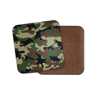 Green Camo Pattern Coaster - Camouflage Army Forces RAF Cool Fun Gift #13105