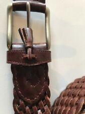 Mulberry Brown Weave Belt Good Condition