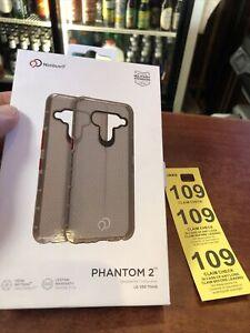 Phantom 2 case by Nimbus for LG V50 ThinQ Carbon Gray Tan
