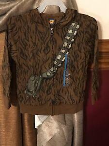 NWT KIDS STAR WARS CHEWBACCA Zippered HOODED Jacket Size 3T Disney Boys Girls