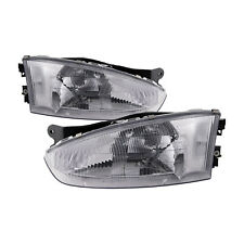 Headlights Set Left Right Pair Fits 1997 2002 Mitsubishi Mirage Coupe2 Door Fits 1999 Mitsubishi Mirage