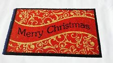 "Natural Coir Fiber, 18x30"" Entry Way Outdoor Doormat  - Merry Christmas"