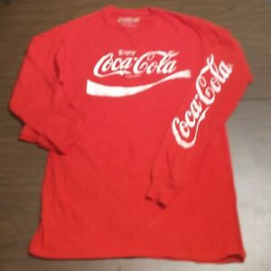 Enjoy ~Coca Cola~ T-shirt Unisex Size Medium Long Sleeve Shirt Logo🥤 Coke