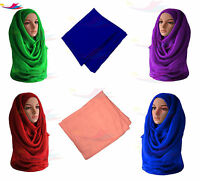 Big Large Maxi Plain Scarf Hijab Sarong Shawl Wrap Cape Viscose/Rayon