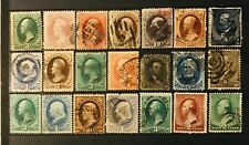 US Stamp Collection 19th Century (21) HIGH CV Banknote Stamps