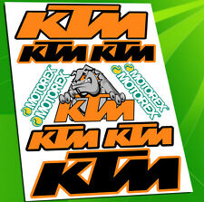 Planche 11 Autocollants Auto Adhesif Moto Vinyle Motard Sticker KTM Racing D 30