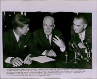 LG788 1960 Wire Photo LUTHER HODGES JOHN KENNEDY LYNDON JOHNSON Washington DC