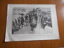 1908 CONSEGNA BANDIERA D' ONORE AL CACCIATORPEDINIERE GRANATIERE DUCA GENOVA RE