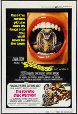 SSSSSSS SNAKE/THE BOY WHO CRIED WEREWOLF original 1973 one sheet movie poster