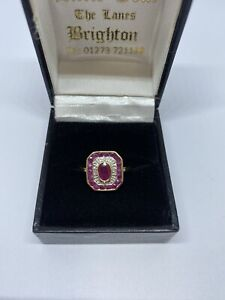 ruby and diamond ring Gold