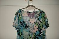 LADIES K & D LONDON TOP BLOUSE UK SIZE 18 PLUS SIZE EXTRA LARGE BRAND NEW TAGS