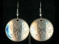 Vermont U. S. State quarter earrings