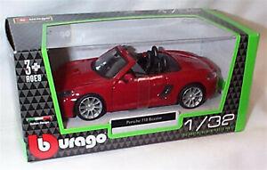Porsche 718 Boxter in Dark red 1:32 Scale Diecast  burago New in Box 43000