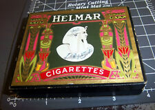 Vintage HELMAR cigarettes box (empty), beautiful graphics on both covers