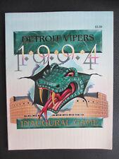 Sept. 30, 1994 IHL Detroit Vipers Inaugural Game Program v Cleveland Lumberjacks