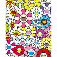 "Takashi Murakami  ""A little Flower Painting Pink,Purple, and Many Other"" Ed.300"