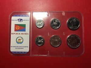 Eritrea Cent Dollar KMS 1997 [6 Münzen]