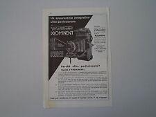 advertising Pubblicità 1934 VOIGTLANDER PROMINENT