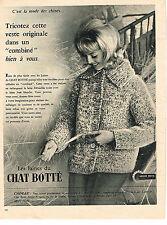 PUBLICITE ADVERTISING 014   1960   CHAT BOTTE   laines