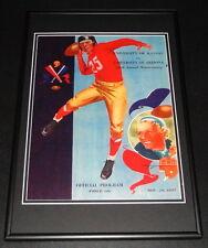 November 20 1937 Kansas vs Arizona Football Framed 10x14 Poster Official Repro