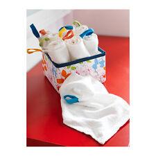 IKEA 10PC Baby, Bambini Lavaggio Panno/Viso, Asciugamano, bianco