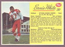 1963 POST CFL FOOTBALL #30 ERNIE WHITE NM OTTAWA ROUGH RIDERS DAYTON UNIVERSITY