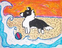 Sheltie versus Wave Pop Art Print 8x10 Dog Collectible by Kimberly Helgeson Sams