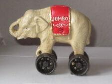 Elefant Zirkuselefant Zirkus Jumbo klein mit Rädern Gusseisen Spardose NEU!