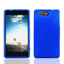 FOR Sony Xperia Z3 ( D6603/D6616 ) BLUE 1-PC TPU SKIN COVER CASE + SCR