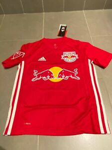 BNWT Adidas NEW YORK Red Bull Soccer Jersey MLS Climacool Kids YOUTH Sz S