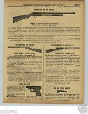 1929 PAPER AD 4 PG King Benjamin Daisy BB Gun Air Rifle Cork Pop Quackenbush