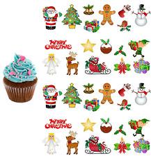 Weihnachten eßbar Muffin Tortenaufleger Keks Deko Weihnachtsmann Engel Rentier