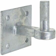 H, DUTY GALVANISED 19mm HOOK PLATE Field Gate Square Hanger Pin Hinge & screws