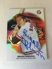 BROOKS ROBINSON 2002 Topps PRISTINE REFRACTOR HAND SIGNED w/COA #5/149 JERSEY #