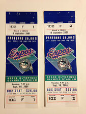 MONTREAL EXPOS VS MIAMI MARLINS BASEBALL TICKETS WITH STUBS