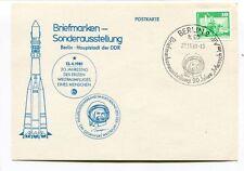 1981 Briefmarken Sonderausstellung Berlin Hauplstadt DDR Jahrestag Ersten SPACE