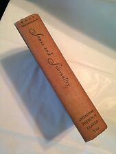 First Edition 2nd Printing SENSE AND SENSUALITY  Sarah Salt 1929 Payson & Clarke